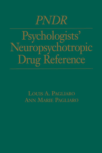 Psychologist's Neuropsychotropic Desk Reference book cover