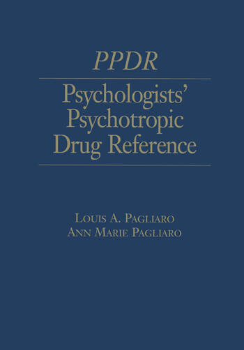 Psychologists' Psychotropic Drug Reference book cover