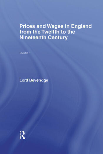 Prices and Wages in England book cover