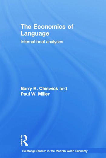 The Economics of Language International Analyses book cover