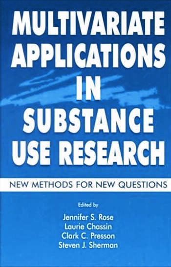 Multivariate Applications in Substance Use Research New Methods for New Questions book cover