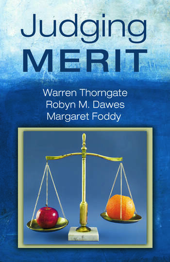 Judging Merit book cover