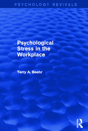 Psychological Stress in the Workplace book cover