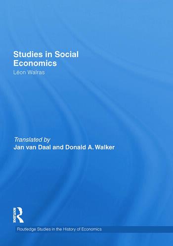 Studies in Social Economics book cover
