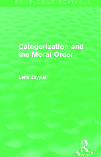 Categorization and the Moral Order (Routledge Revivals) book cover