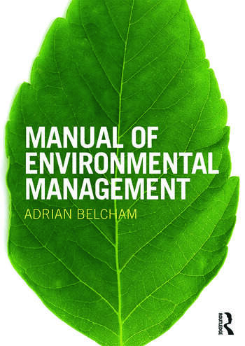 Manual of Environmental Management book cover