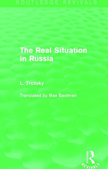 The Real Situation in Russia (Routledge Revivals) book cover