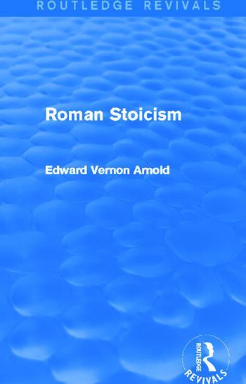 Roman Stoicism (Routledge Revivals) book cover