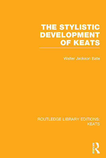 Routledge Library Editions: Keats book cover