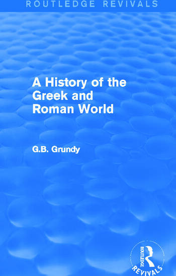 A History of the Greek and Roman World (Routledge Revivals) book cover