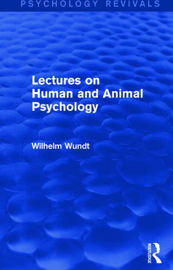 Lectures on Human and Animal Psychology book cover