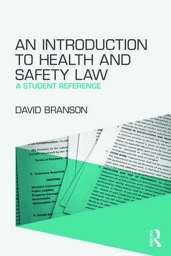 An Introduction to Health and Safety Law A Student Reference book cover