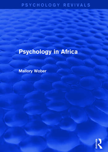 Psychology in Africa book cover