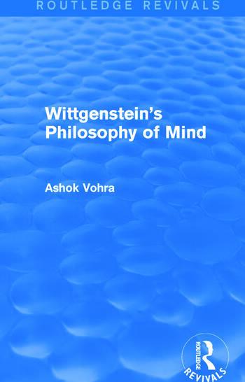 Wittgenstein's Philosophy of Mind (Routledge Revivals) book cover