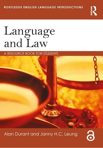 Language and Law A resource book for students book cover