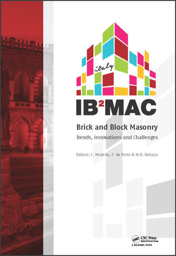 Brick and Block Masonry Proceedings of the 16th International Brick and Block Masonry Conference, Padova, Italy, 26-30 June 2016 book cover