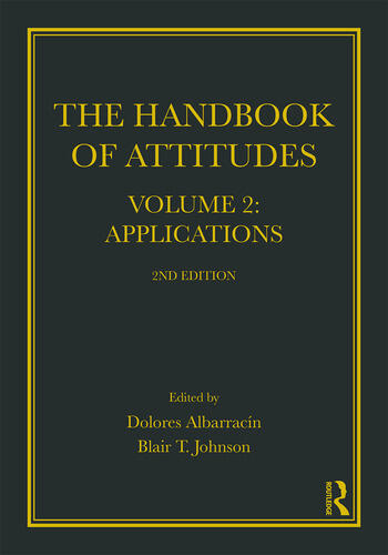 Handbook of Attitudes, Volume 2: Applications 2nd Edition book cover