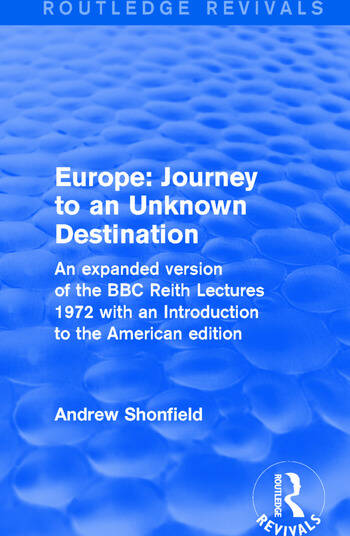 Revival: Europe: Journey to an Unknown Destination (1972) book cover