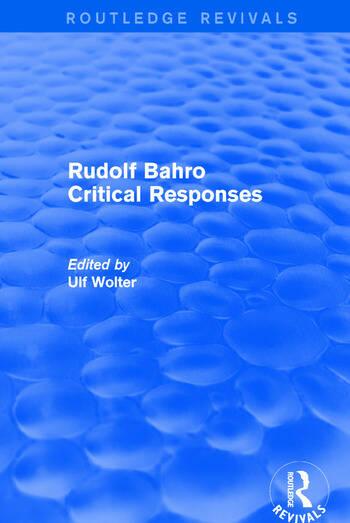 Rudolf Bahro Critical Responses book cover