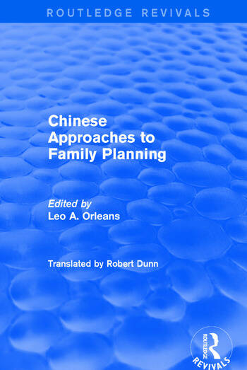 Chinese Approaches to Family Planning book cover