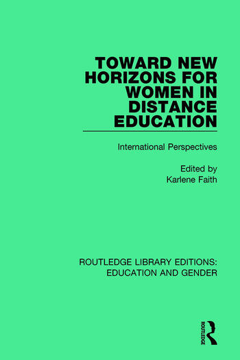 Toward New Horizons for Women in Distance Education International Perspectives book cover