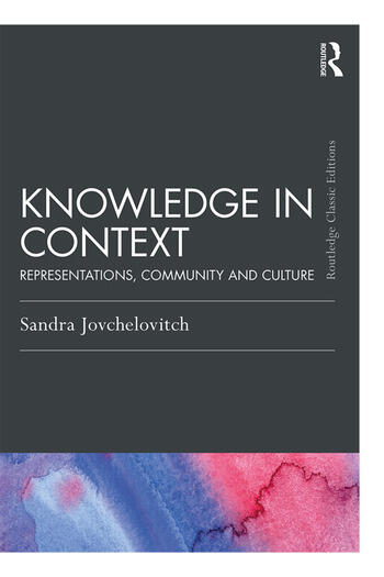 Knowledge in Context Representations, Community and Culture book cover