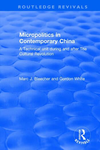 Micropolitics in Contemporary China book cover