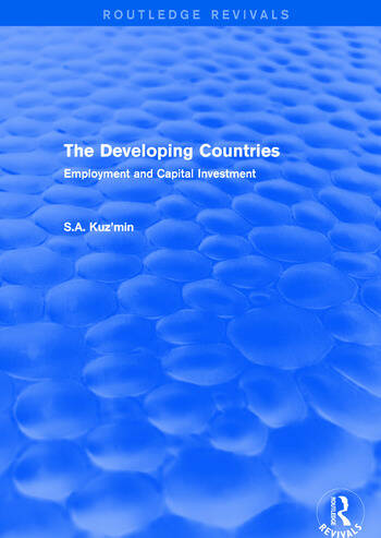 The Developing Countries Employment and Capital Investment book cover