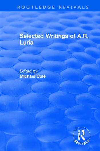 Selected Writings of A.R. Luria book cover