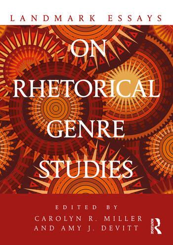 Landmark Essays on Rhetorical Genre Studies book cover
