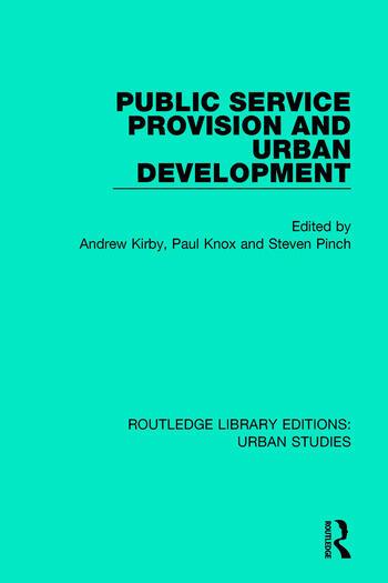 Public Service Provision and Urban Development book cover