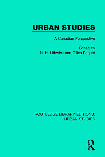 Urban Studies A Canadian Perspective book cover