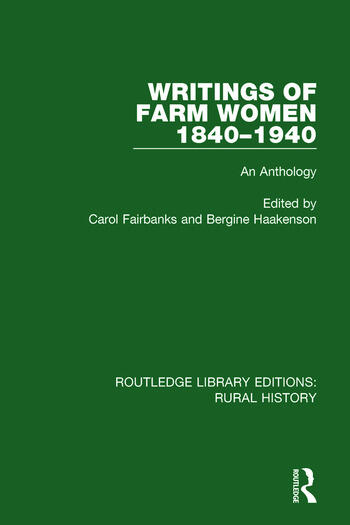 Writings of Farm Women, 1840-1940 An Anthology book cover