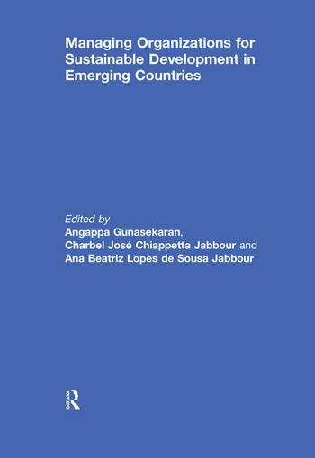 Managing Organizations for Sustainable Development in Emerging Countries book cover