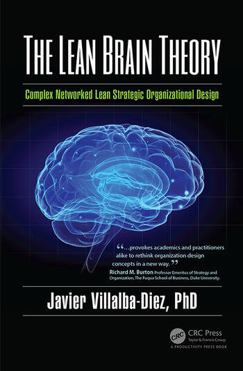 The Lean Brain Theory Complex Networked Lean Strategic Organizational Design book cover