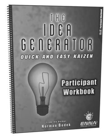 Quick and Easy Kaizen Participant Workbook book cover