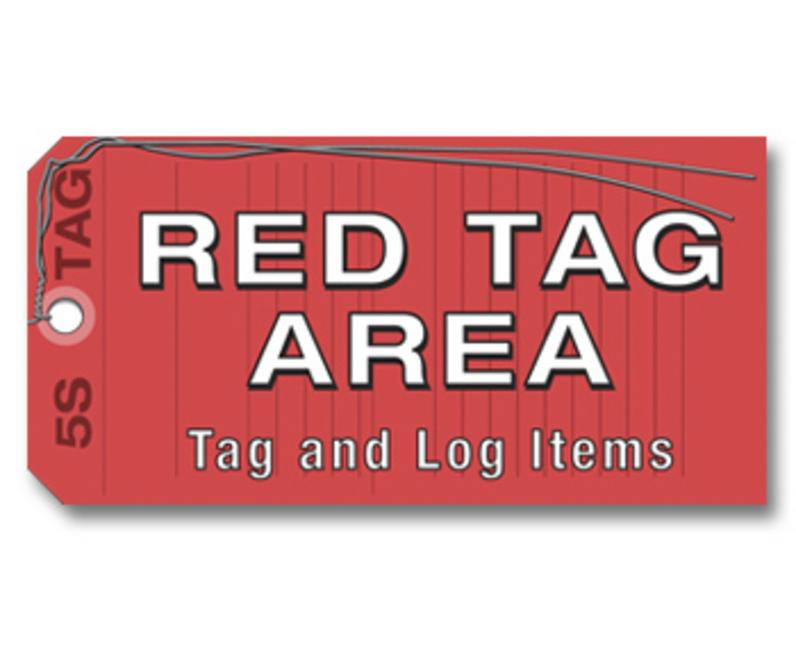 5S Red Tag Area Sign book cover
