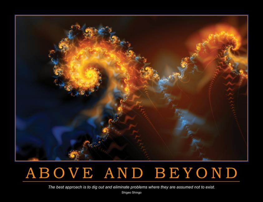 Above and Beyond Poster book cover