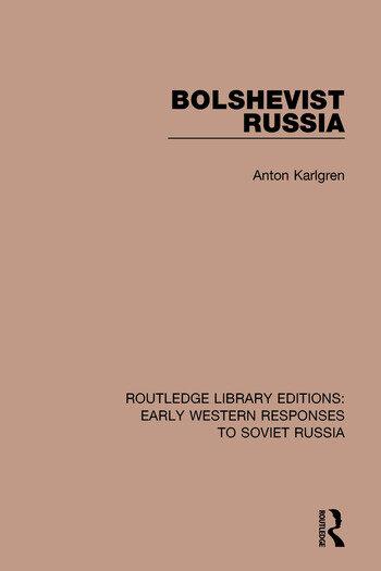 Bolshevist Russia book cover