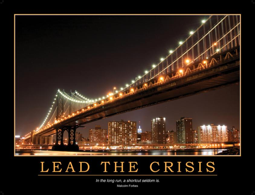 Lead the Crisis Poster book cover