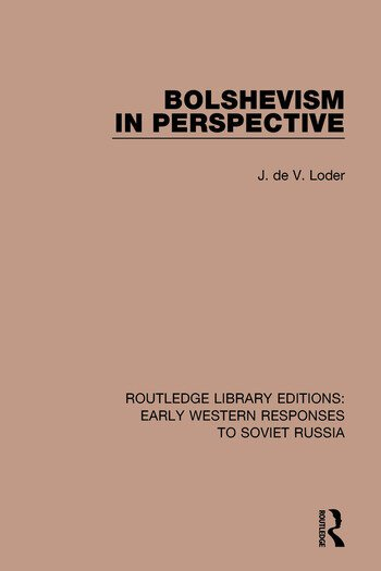 Bolshevism in Perspective book cover