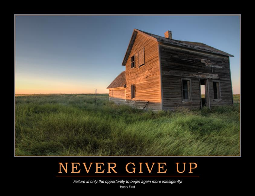 Never Give Up Poster book cover
