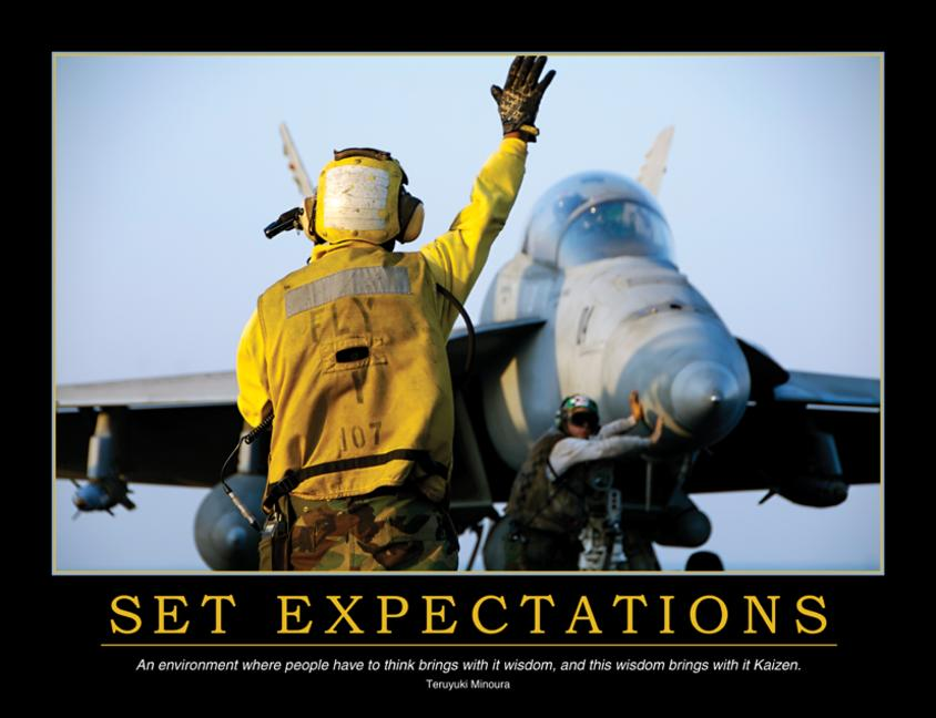 Set Expectations Poster book cover