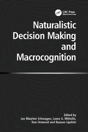 Naturalistic Decision Making and Macrocognition book cover