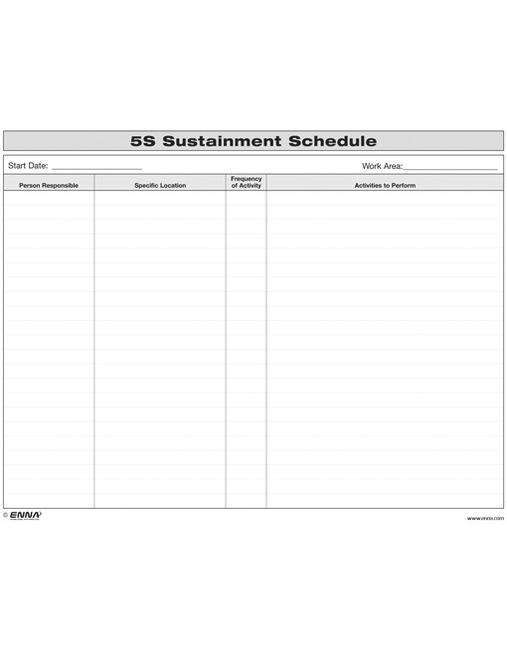 5S Sustainment Schedule book cover