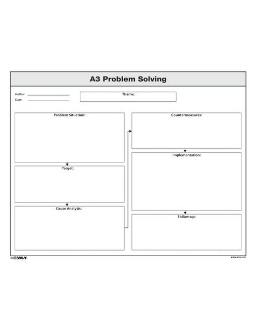 A3 Problem Solving Form book cover