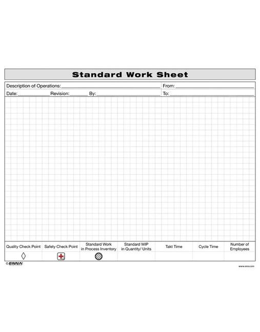 standard work sheet crc press book