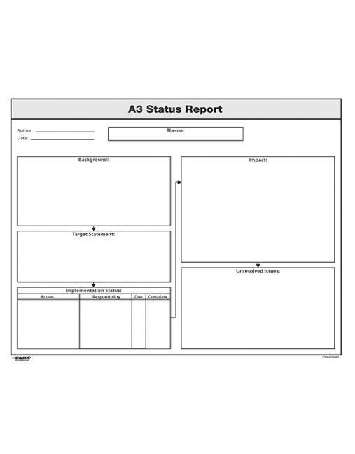 A3 Status Report book cover