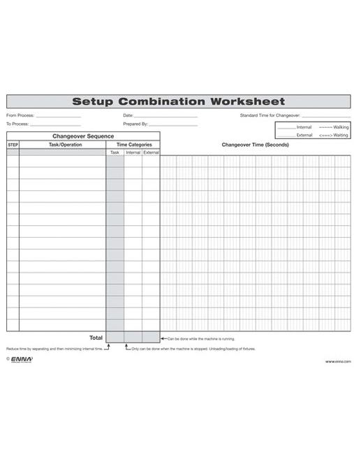 Quick Changeover: Setup Combination Worksheet Setup Combination Worksheet book cover