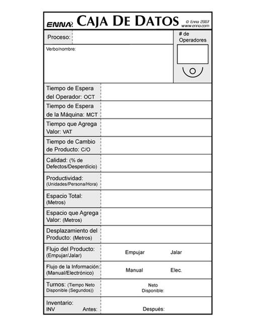 VSM Data Boxes (Spanish) book cover